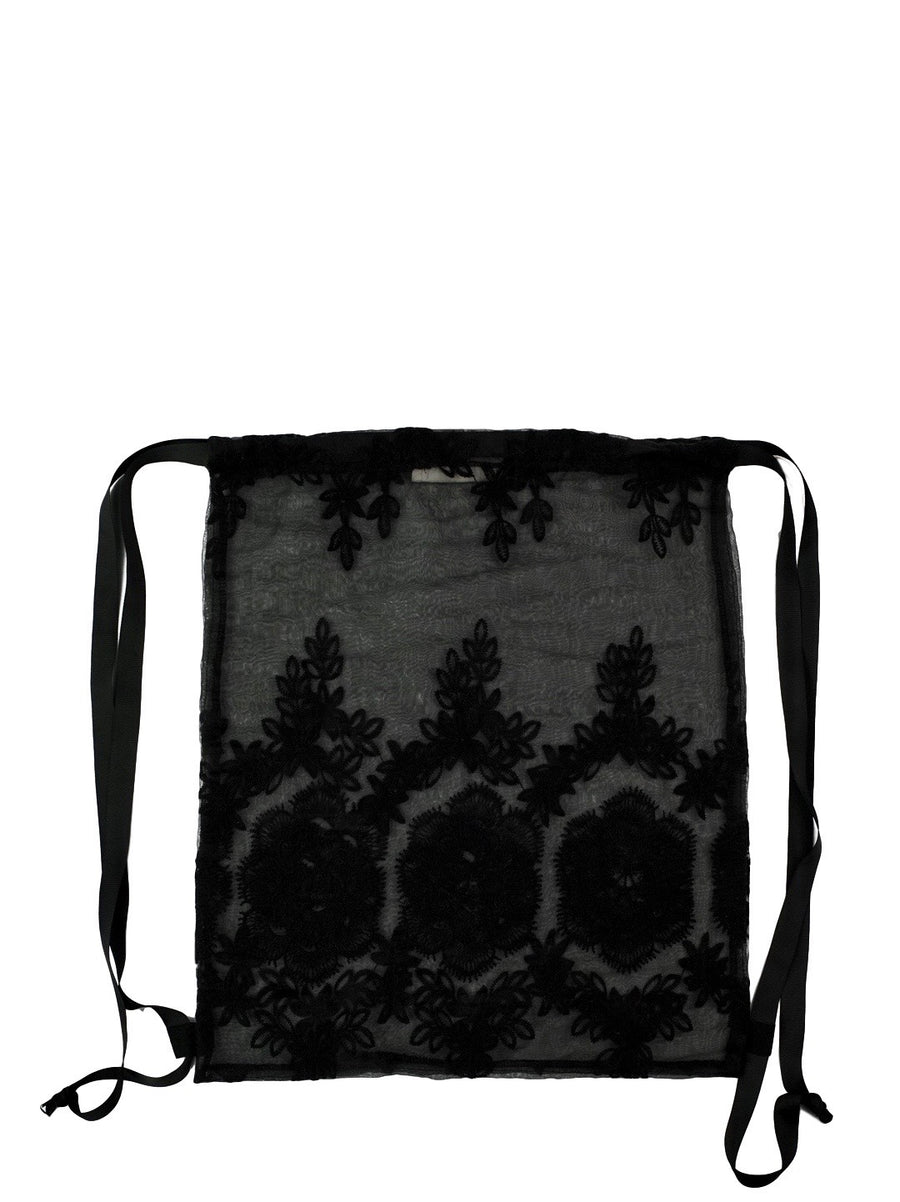 Lace Backpack Black