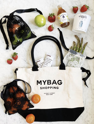 Veggie Bag Small, world traveler grocery, lace bag black, lace bag white