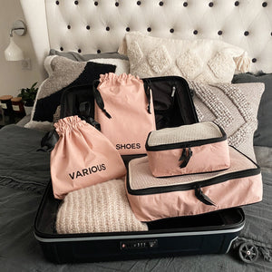 BA Traveler Organizing Bags Pink Blush 8-pack - Bag-all Australia