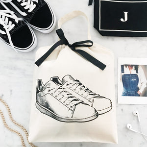 White Sneaker Shoe Bag  - bag-all-australia
