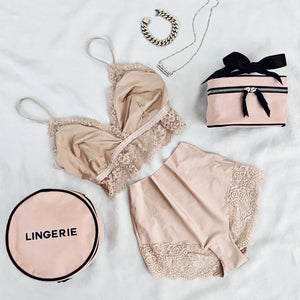 Round Lingerie Case Pink - Bag-all Australia