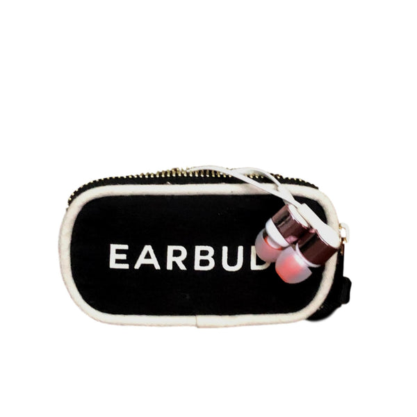 Mini Earbuds Case with White Piping - Bag-all Australia