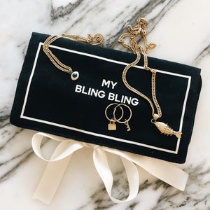 Jewelry Case Bling Bling Black