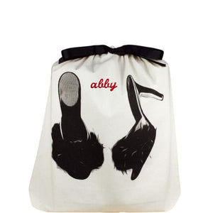 feather slippers shoe bag