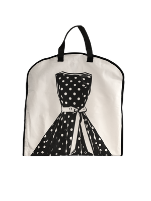 Polkadot Garment Bag - Easy to Carry Around