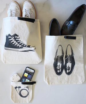 Sneaker Shoe Bag, earbuds bag, men's shoe bag