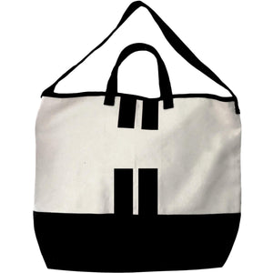 Nolita Cross Body Tote Bag - Black Stripes - bag-all-australia