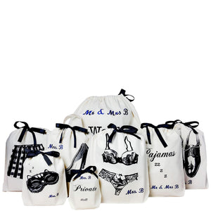 Personalized Honeymoon Kit Bags 8-pack - bag-all-australia