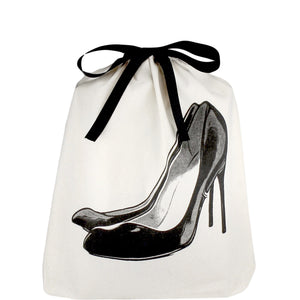 Black Pumps Shoe Bag