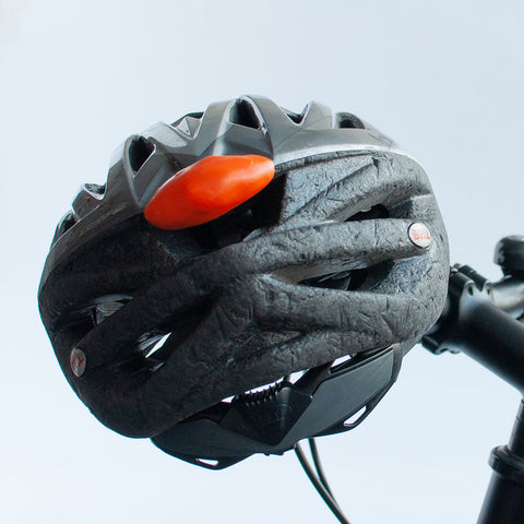 FixIts on back of bike helmet makes you more visible