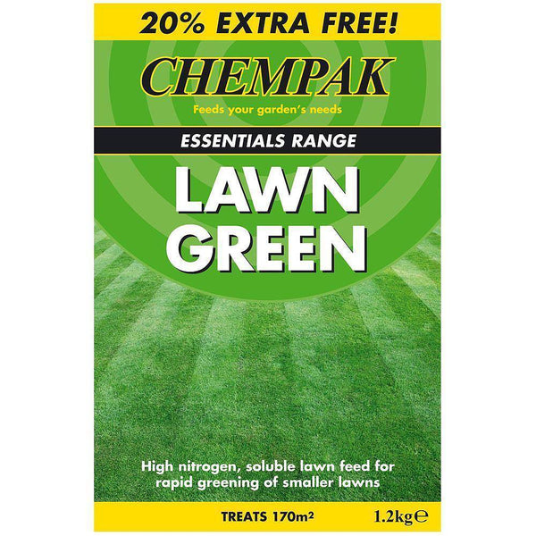 Chempak Lawn Green Lawn Food 1.2kg (treats 170m2) - Gardening Requisites