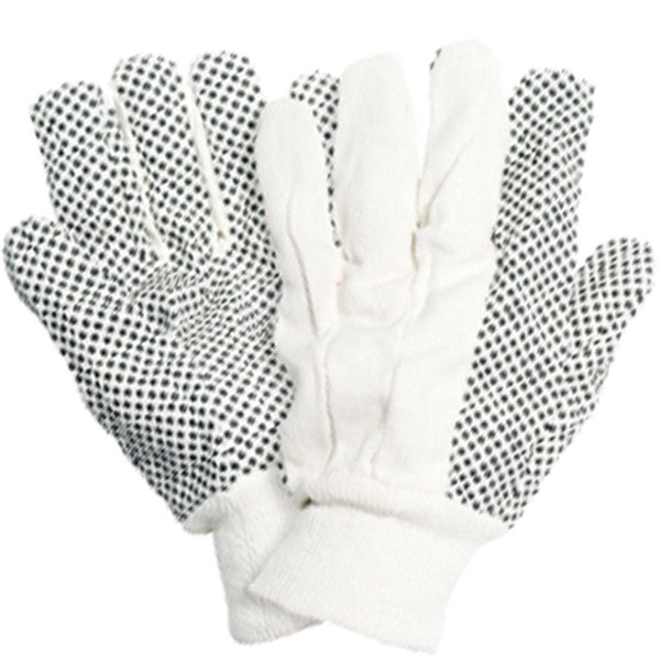 BRIERS GARDEN GLOVES  COTTON DRILL WITH PVC DOTS LARGE SIZE - Gardening Requisites