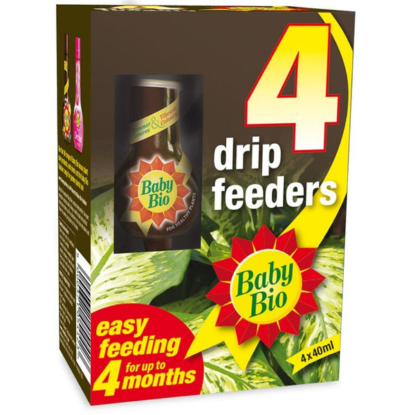 Baby Bio Drip Feeder 4 pack, 4 x 40ml feeders - Gardening Requisites