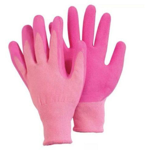 Briers Comfi pink, soft latex coated glove, size medium - Gardening Requisites
