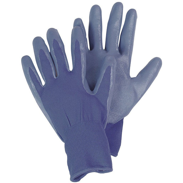 Briers Seed and Weed Gardening Gloves, Nitrile coated, size small, Blue - Gardening Requisites