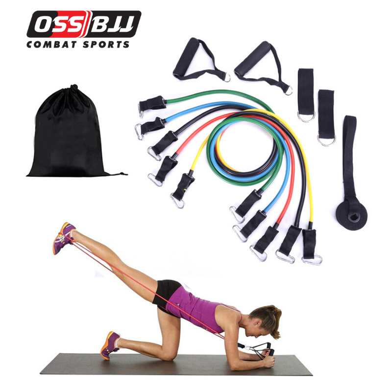 EXERCISE RESISTANCE BANDS SET FITNESS STRETCH HOME WORKOUT BANDS