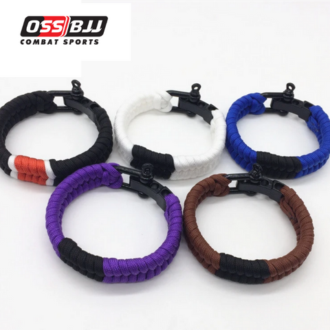OSS Combat Sports Paracord Adjustable Brazilian Jiu-Jitsu Bracelet