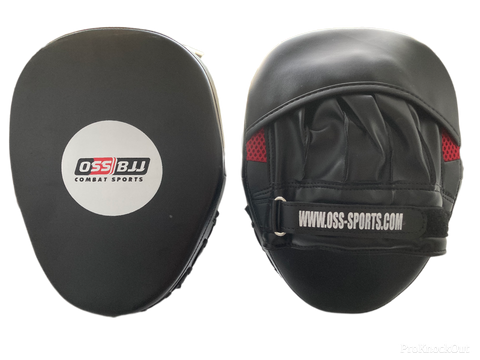 OSS - Boxing Pads Hand Targets 2PCS Focus Mitts MMA Training Punching PU Leather Strike Target Glove