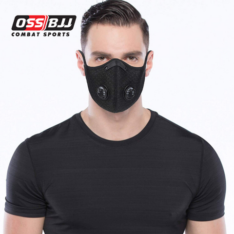 Sport Face Mask Anti Pollution Dust Half Face Mask with 2 Activated Carbon Air Filters