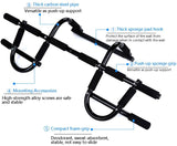 Oss - Multi-Grip Chin-Up/Pull-Up Bar, Heavy Duty Doorway Trainer for Home Gym, Black. Includes a Free Figure 8 Resistance Bands