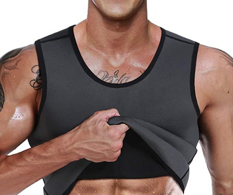 OSS - Men's Waist Trainer Vest - Neoprene Slimming Corset Body Shaper Sweat Suits for Weight Loss