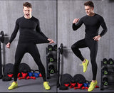 OSS - Compression Pants - Men's Tights Base Layer Leggings, Best Running/Workout, Black, UK L_Tag XL