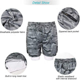 OSS - Mens Gym Training 2 in 1 Sports Shorts Outdoor Workout Running with Pockets
