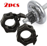 OSS - Collar Clamps for, Dumbells, Barbells Gym Equipment, Weightlifting, Fitness, Crossfit (25mm, One Pair)