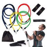 OSS - Exercise Resistance Bands and Workout Fitness Set - Home Workout Bands 11 Pieces