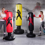 Punch Bag, Inflatable Free-Standing Fitness Sandbag with a Free Foot Air Pump