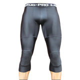 OSS - Men's 3/4 Compression Tight Pants Kneepads, Quick-Drying. Grappling, BJJ, MMA, Fitness