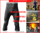 OSS - Men's 3/4 Compression Tight Pants Kneepads, Quick-Drying. Best Firefighter Knee Pads