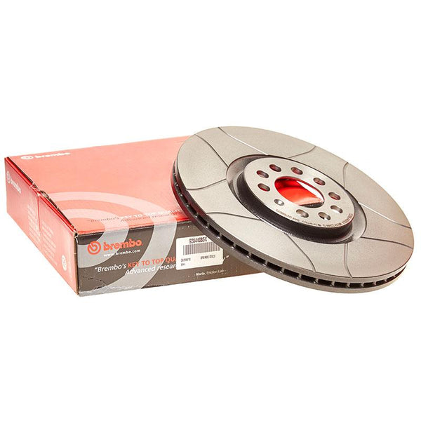 Brembo Max Front Slotted Brake Discs for Audi A4 (B6)