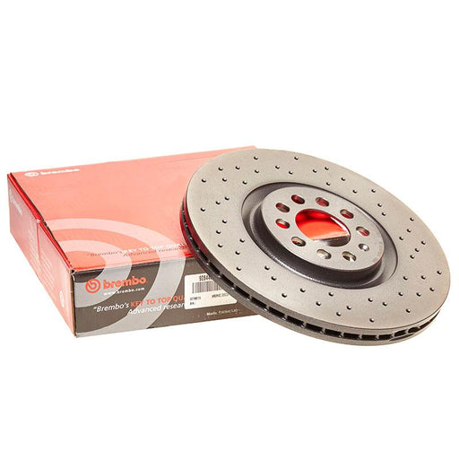Brembo Xtra Rear Drilled Brake Discs for Volkswagen Polo (6R)