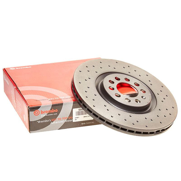 Brembo Xtra Front Drilled Brake Discs for Skoda Fabia (6Y)