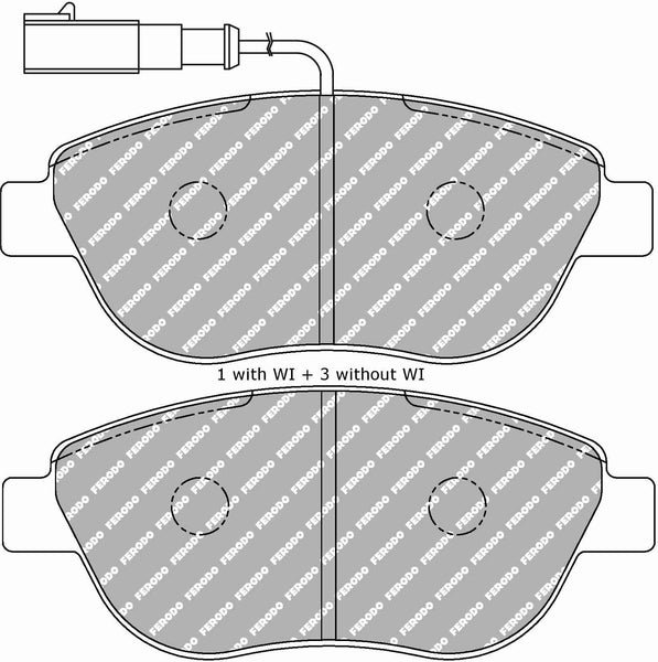 Ferodo DS Performance Front Brake Pads for Fiat 500