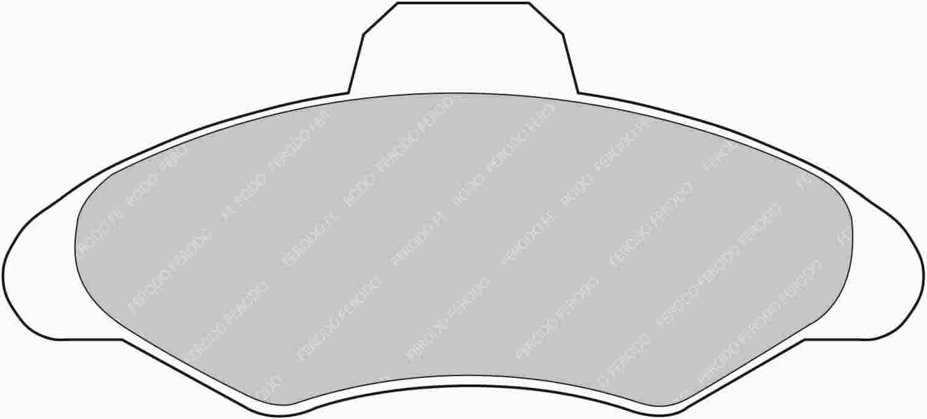 Ferodo DS Performance Front Brake Pads for Ford Escort Convertible (MK6)