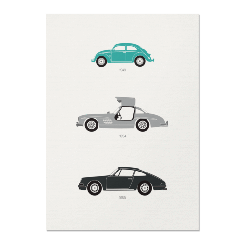 From the Alps to the Autobahn – German Unframed Poster