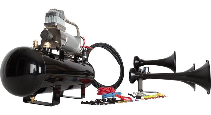 Hornblasters Outlaw 228V Black Train Horn Kit