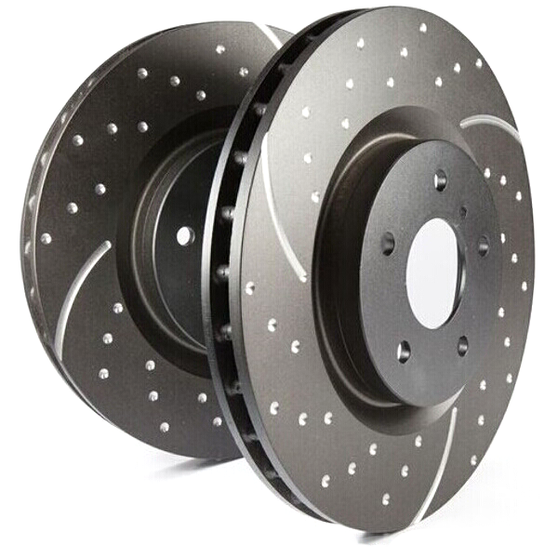EBC Turbo Grooved Front Brake Discs for Abarth Punto Evo