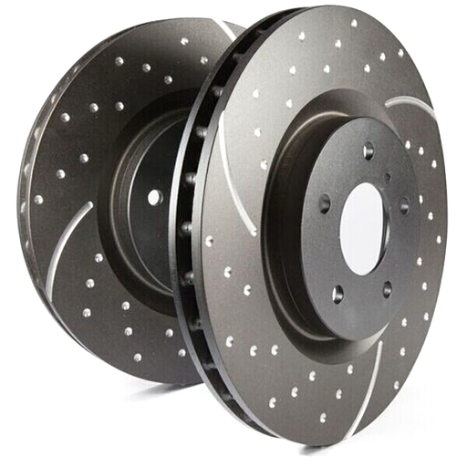 EBC Turbo Grooved Front Brake Discs for Vauxhall Corsa (C)
