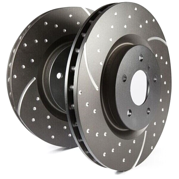 EBC Turbo Grooved Front Brake Discs for Vauxhall Corsa (D)