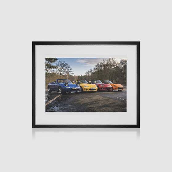 Mazda MX-5 Generations Framed Print