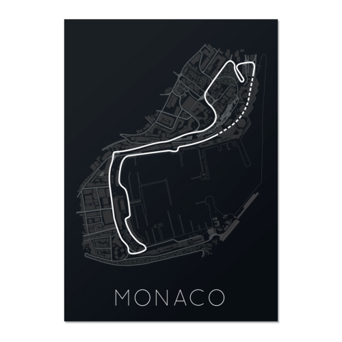 The Stage of Real Sport – Circuit De Monaco Unframed Poster