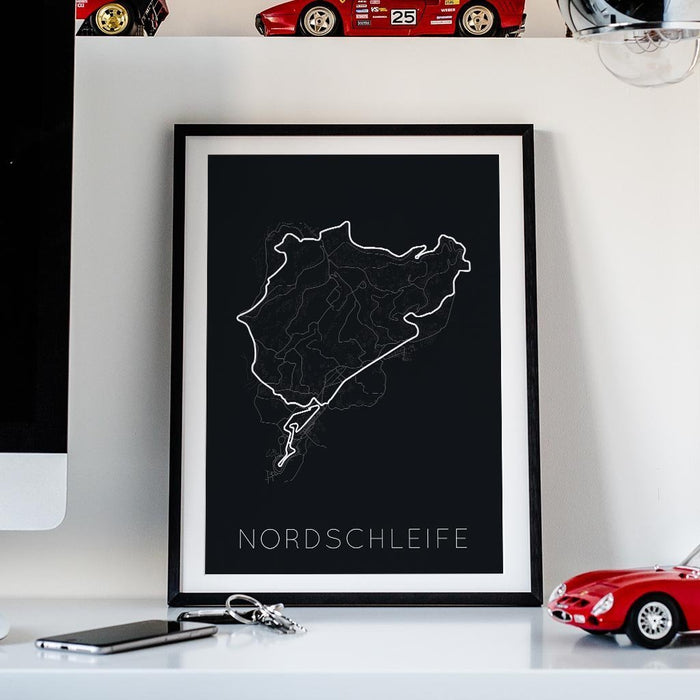 The Green Hell – Nordschleife Framed Poster