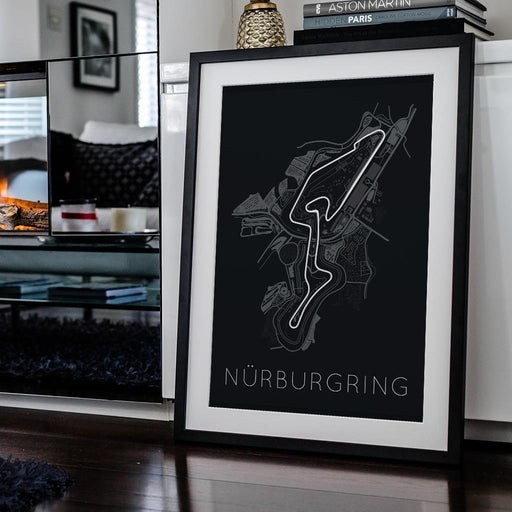 Titan of Tracks – Nürburgring Framed Poster