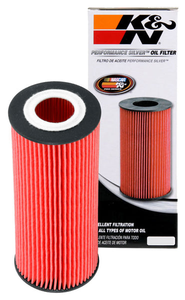 K&N Performance Silver Oil Filter for Audi A4 (B6)