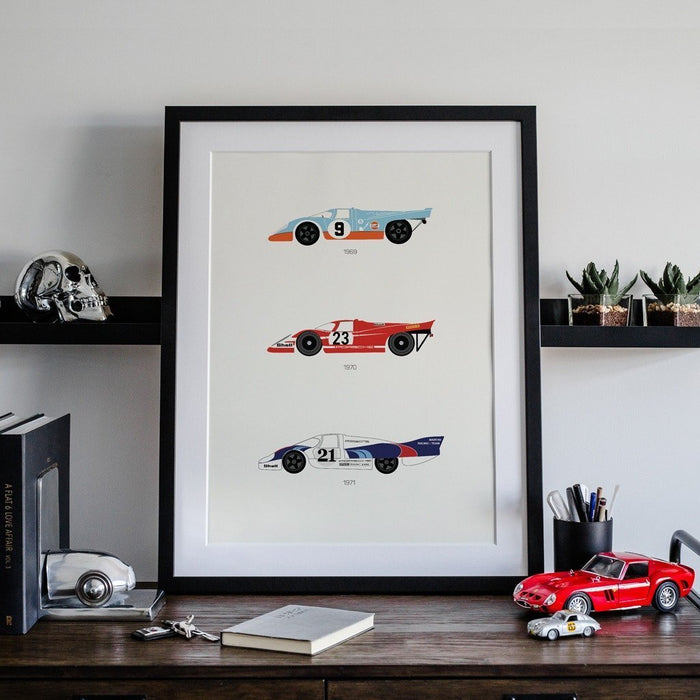 A Thoroughbred Drive – Porsche Framed Poster