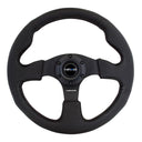 NRG Reinforced Steering Wheel - Leather  Steering Wheel  320mm W/ Black Stitch