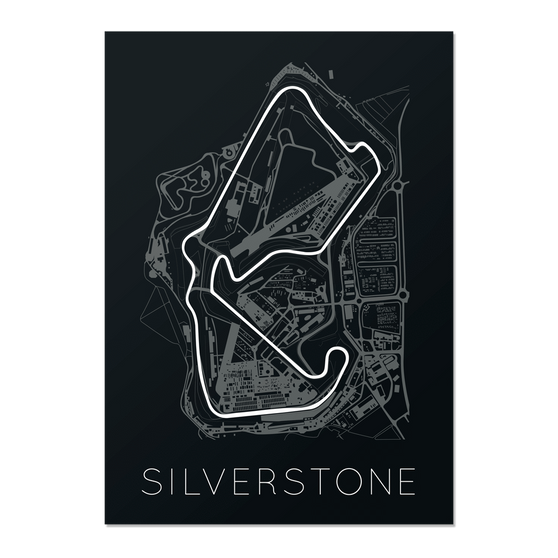 The Blueprint of Velocity – Silverstone Circuit Unframed Poster